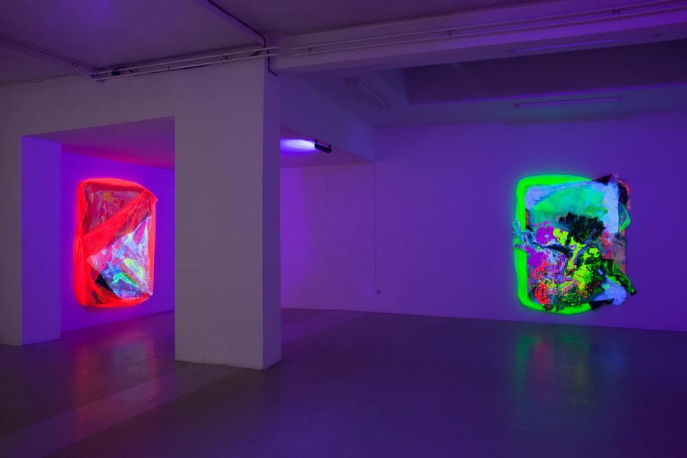 Swashbuckling : Exhibition view, Group show @ Juliette Jongma Gallery Amsterdam w/Astrit Ismaili, Sophie Serber and Florian & Michael Quistrebert 24 November 2017 - 6 January 2018