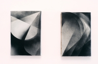 spray paint on canvas, 14cm x 24cm each, 2010.