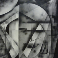 , spray paint on canvas, 150cm x 150cm, 2010