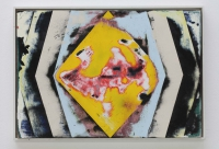 , sanded colored gesso on panel, wooden frame, 37,5 x 53,5cm, 2012