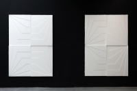 , gesso on wooden panels, 120 x 170cm each, 2012